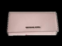 MICHAEL KORS Portfel BLOSSOM zapinany srebrne logo