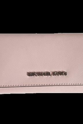 MICHAEL KORS Portfel BLOSSOM zapinany srebrne logo (1)