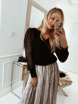 COCOMORE sweter elegancja Antone czarny