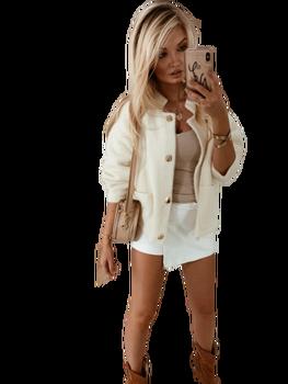COCOMORE Sweter Premium Selena jasny szary