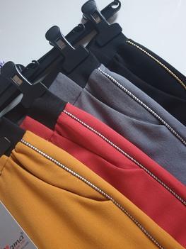 Sigma for You Spodnie proste eleganckie szare