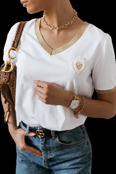 COCOMORE Bluzka Golden biała (1)