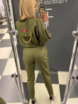 PAPARAZZI FASHION kombinezon khaki kieszonka
