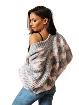 COCOMORE sweter ZEBRA STRIPES szary
