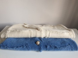Made in Italy alpaka żakiet niebieski