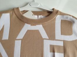 COCOMORE Sweter ALPHA beżowy białe litery