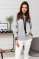 COCOMORE sweterek miękki szary z kapturem (5)