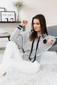 COCOMORE sweterek miękki szary z kapturem (3)