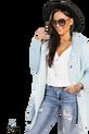 COCOMORE Płaszcz Arias  Tweed błękitny (1)