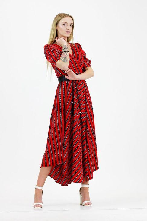 Sigma for You Sukienka Limited Edition napisy czerwona (1)