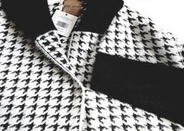 COCOMORE Płaszcz Arias  Tweed biały z czarnym