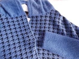 COCOMORE Płaszcz Arias  Tweed niebiesko czarny
