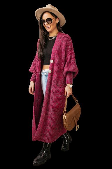 COCOMORE sweter różowy melange (1)