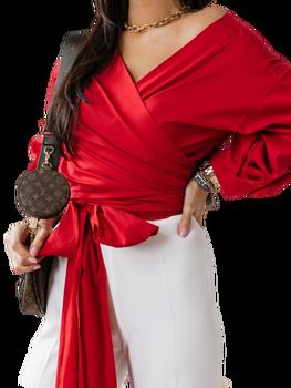 COCOMORE Bluzka Masti czerwona wiązana