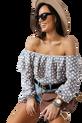 COCOMORE Bluza Altero hiszpanka asymetryczna szaro pudrowa (1)