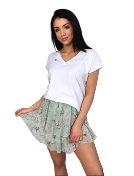 BOCCA Bluzka biała V t-shirt