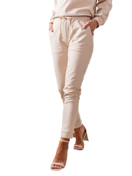 COCOMORE Spodnie Rita pudrowe beżowe