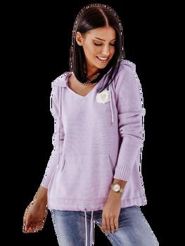 Cocomore Sweterkowa Bluza fioletowa