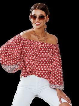 Cocomore bluzka hiszpanka Agava czerwona